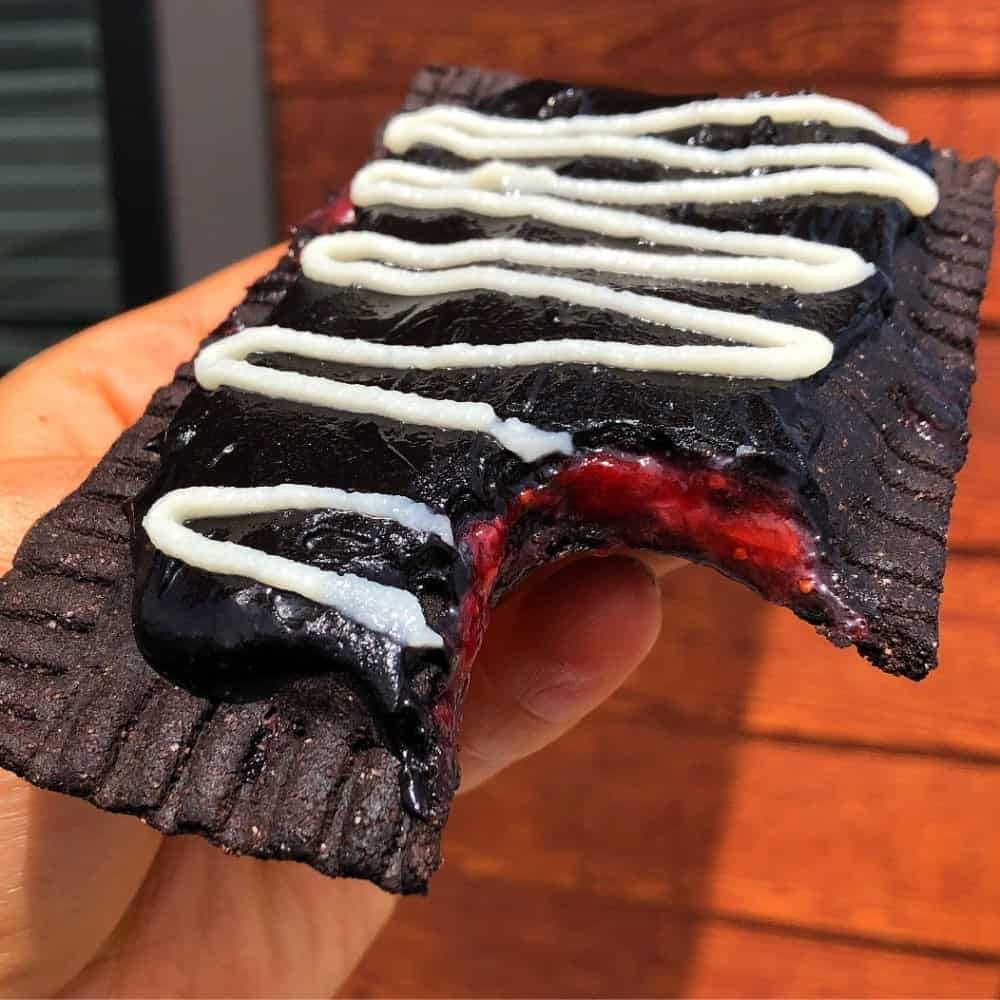 Dark Chocolate Frosted Raspberry Protein Pop Tart