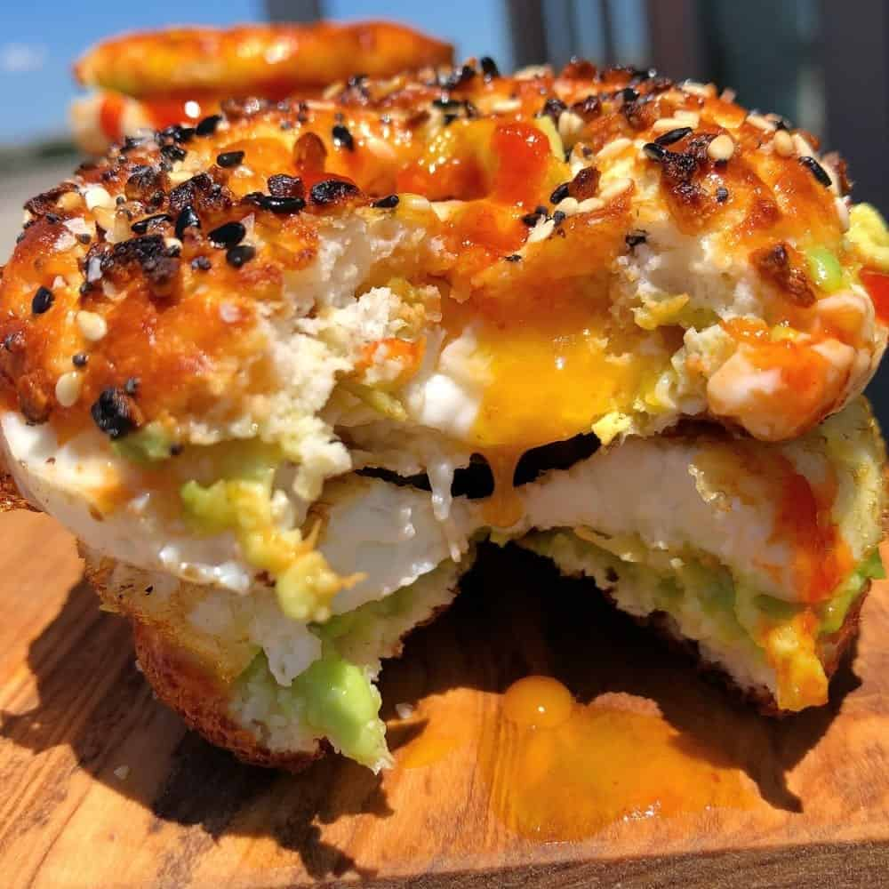 Low Carb Everything Bagel Breakfast Sandwich