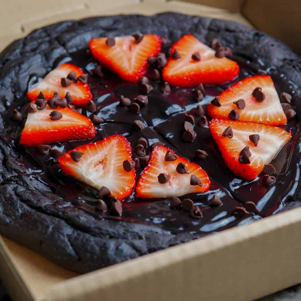 Chocolate Covered Strawberry Dessert Cookie Butter Pizza