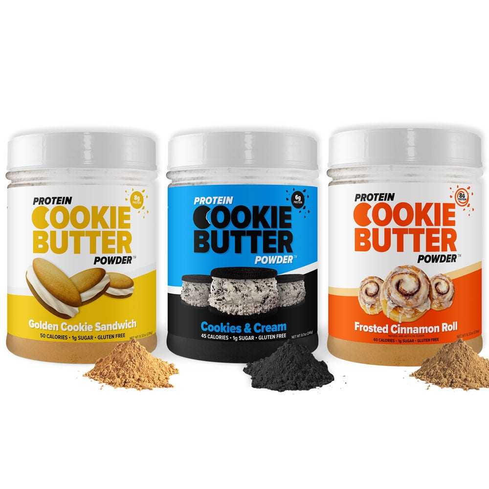 Protein Cookie Butter Powder flavors