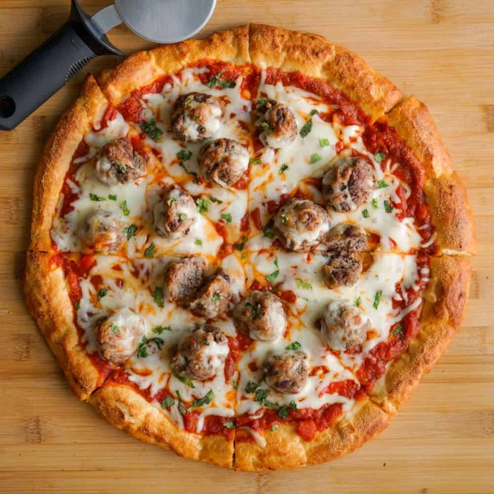 Meatball Marinara Pizza